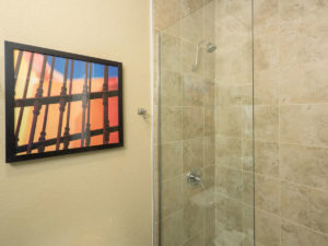 Bathroom with shower at the Best Western PLUS Winslow Inn - Winslow, Arizona
